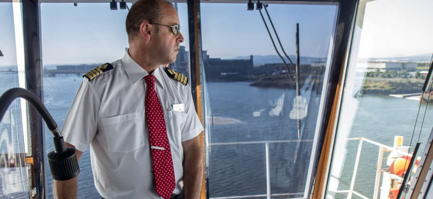 Stena Europe's Captain Richard Davies