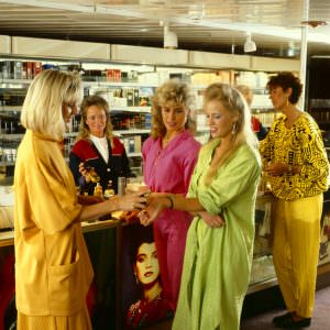 Shopping onboard in the 80ies
