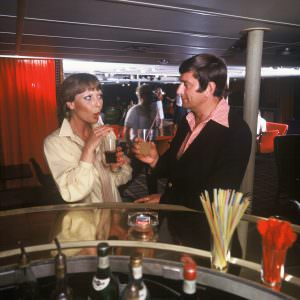 The bar onboard in the 70ies