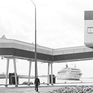 Stena Germanica arrives to the terminal in Gothenburg
