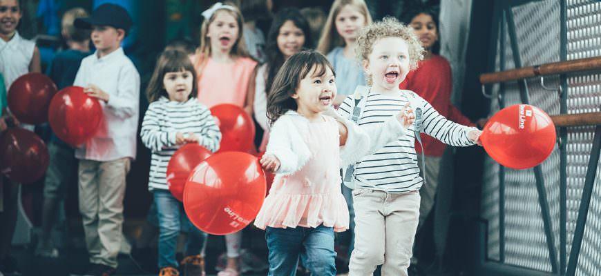 Happy children onboard