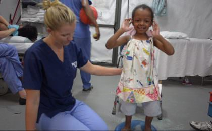 Fifalina helped by Mercy Ships