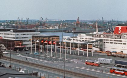 New Stena Line Terminal in Gothenburg May 1972
