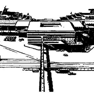 Drawing of the new terminal in Gothenburg