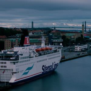 Stena Danica by the Denmark terminal in Gothenburg