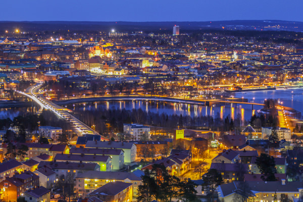 Östersund - The Winter City - by night