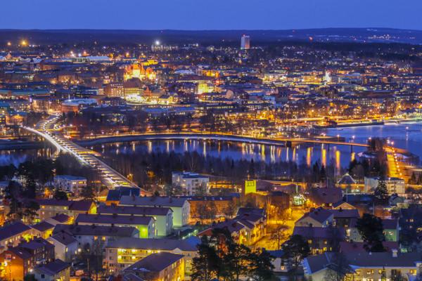 Östersund - The Winter City - by night