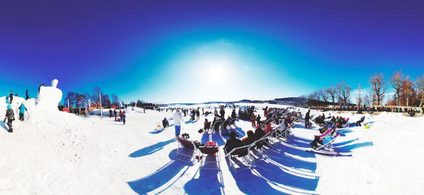 The winter park in Östersund