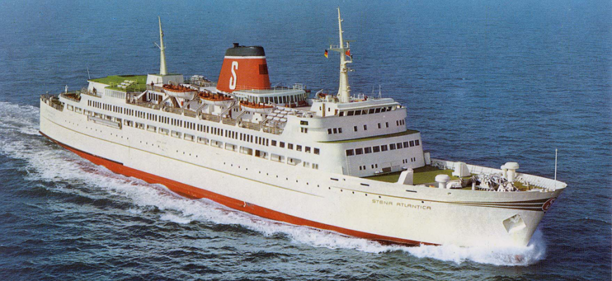 Stena Atlantica 1972 outside Kiel